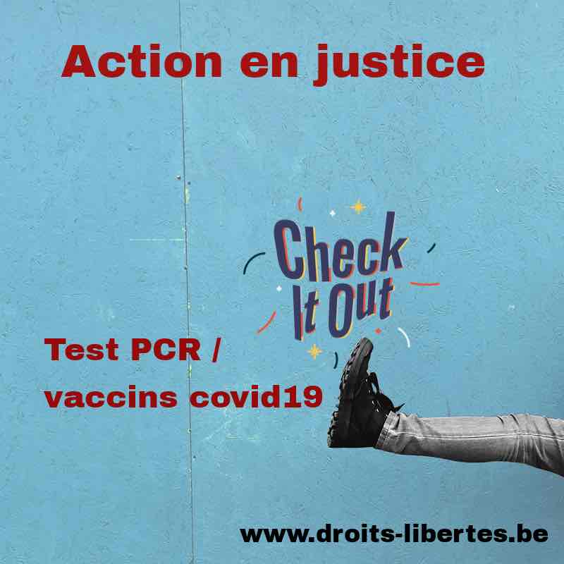 Action en justice : tests PCR et vaccins covid19